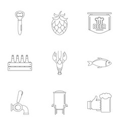 street fast food icons set outline style vector image