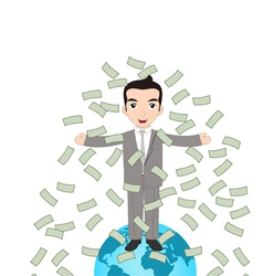 Successful Business People on the top of the World vector image