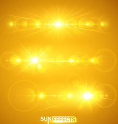 Sun effects vector