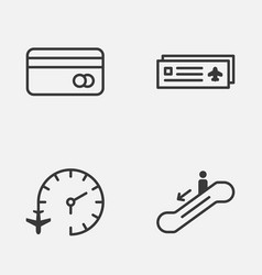 Travel icons set collection of travel clock vector