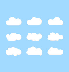 white clouds set background vector image