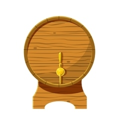 Wooden beer keg icon cartoon style vector