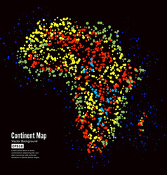 africa continent map abstract background vector image vector image