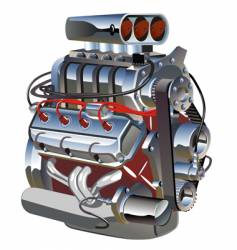 cartoon turbo engine vector image vector image