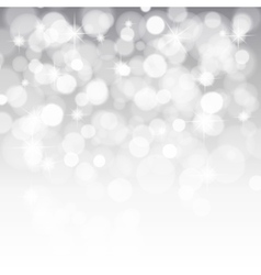 glittery lights silver abstract Christmas vector image