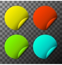 modern colorful stickers set vector image vector image