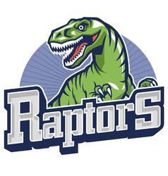 raptor mascot vector image vector image