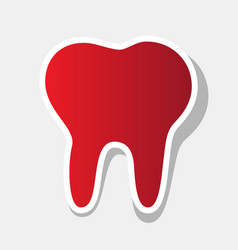 tooth sign new year reddish vector image