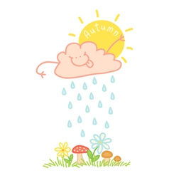 Cloud autumn vector image vector image