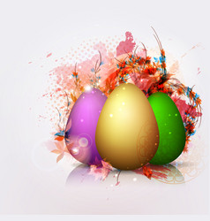 easter greeting card easter egg abstraction vector image