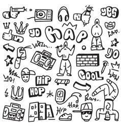 Raphip hop - doodles vector