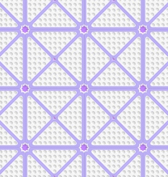 White perforated triangles with purple lines tile vector image vector image