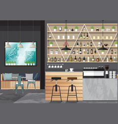 bar interior design vector image vector image