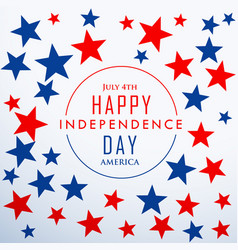 Happy independence day with stars vector