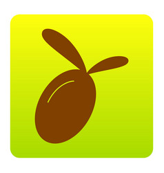 olive sign brown icon at vector image vector image