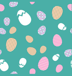 seamless texture easter eggs with oriental spring vector image vector image