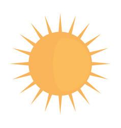sun shinning symbol vector image vector image