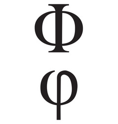 greek signs and symbols vector image vector image