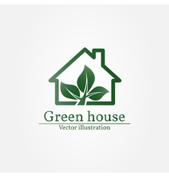 Green house logo Eco house Green house Green hous vector image vector image