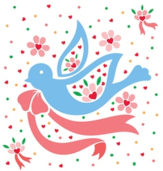 Love Pigeon vector image vector image