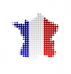 map and flag of France vector image