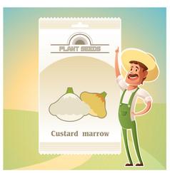 Pack of custard marrow seeds vector