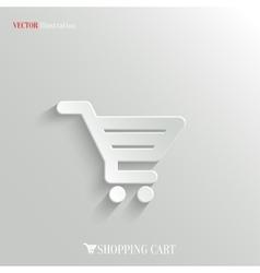 Shopping cart icon - web background vector image