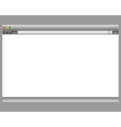 Simple Browser window on blue back ground vector image