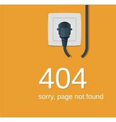 404 Error page not found vector