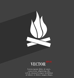 A fire icon symbol Flat modern web design with vector image