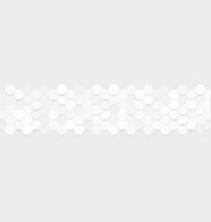 abstract gray hexa pattern vector image