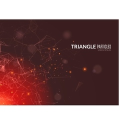 Abstract polygonal techno background Futuristic vector image
