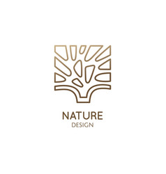 abstract tree square logo vector image