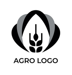 Agro logo for your company black and white vector