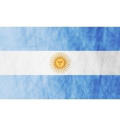 Argentinean grunge flag vector image