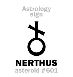 astrology asteroid nerthus vector image