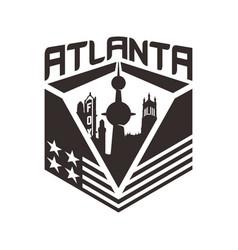 Atlanta skyscraper city creative conc vector