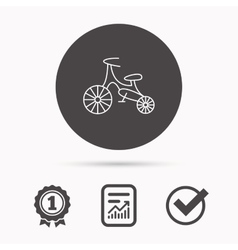 Bike icon Kids run-bike sign vector
