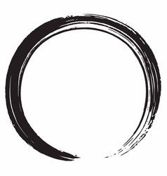 Black zen circle brush design vector