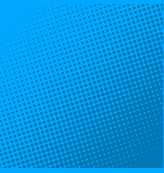 blue retro comic book page background halftone vector image