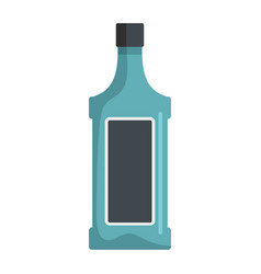 Bottle with alcoholic drinks isolated on white vector