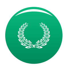 Certified wreath icon green vector