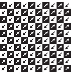 checkered pattern with arrows vector image
