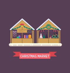 Christmas Market Stall vector