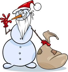 Christmas snowman cartoon vector
