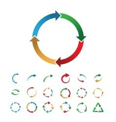 Circular signs vector