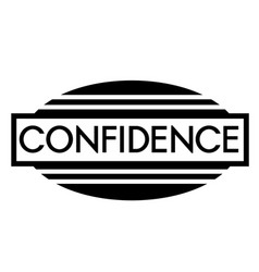 Confidence stamp on white vector