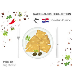 Croatian cuisine european national dish vector