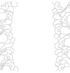 crocus flower outline border vector image