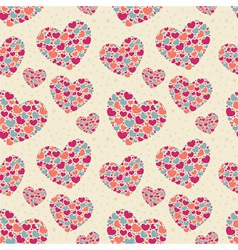 Cute Valentine love seamless pattern vector